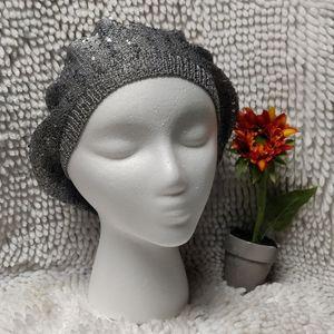 NWOT Sparkle hat silver